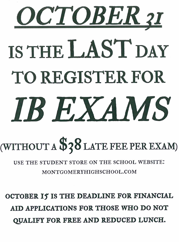October is the last day to register